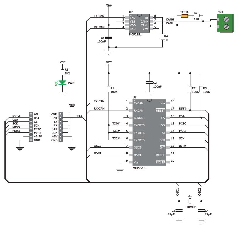 Схема can подмотки своими руками mcp2515 и a82c250